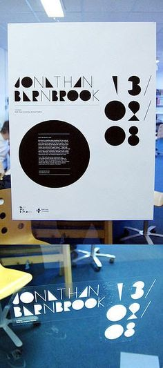 Old Jonathan Barnbrook lecture poster