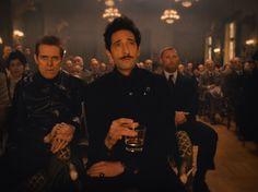 Still of Willem Dafoe and Adrien Brody in The Grand Budapest Hotel (2014)