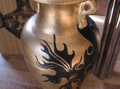 Upcycled Vase In Gold And Black Urn Roman Style, Used Other Home Decor For Sale in Portarlington, Laois, Ireland for euros on Adverts. Roman Fashion, Urn, My Design, Vase, Projects, Gold, Black, Home Decor, Style