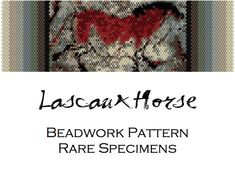 Lascaux Cave Horse Painting Peyote Stitch by RareSpecimens on Etsy