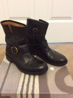 Fiorentini + Baker Eli Boots Black Leather Size 6.5 (fits a size 7)