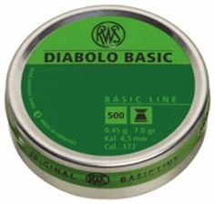 500 RWS Diabolo Basic 177 Pellets - Precision Plinking 7 Grain Air Rifle, Grains, Rifles, Gun, Great Ideas, Products, Firearms, Pistols, Bucky