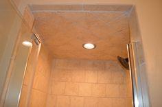 Master bathroom remodel: SW Jogging Path. Tile Roman Stone Beige. Allen Roth Vanity. Delta oil-rubbed bronze fixtures.