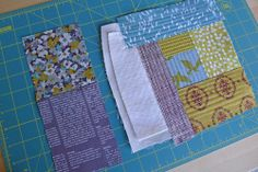 Quilted panels for structured projects.