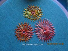 Sadala's Embroidery---chamanthy stich