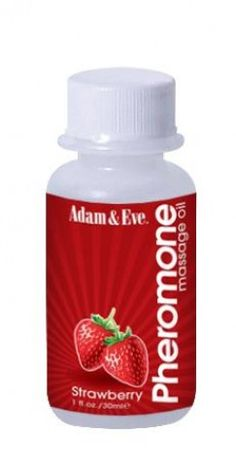 Adam and Eve Pheromone Massage Oil Strawberry 1 fluid ounce bottle lets couples enjoy a sensual massage. This lightly scented massage oil enhanced with the powerful sexual allure of pheromones. Attract, arouse and feel the passion build! Adam & Eve Pheromone Massage Oil leaves skin soft, smooth and infused with a gentle scent of strawberry and citrus and you will both find yourself more attracted to each other! Small travel size.