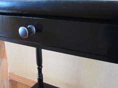 Little House on the Corner: Exploring My Dark Side: A Side Table Makeover