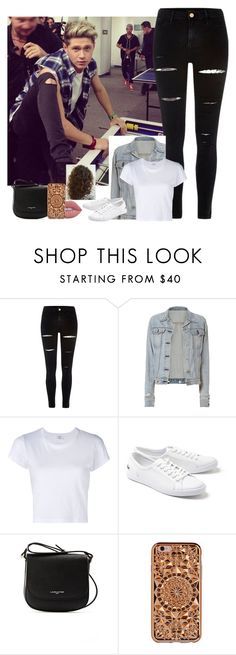 """Arcade w/ Niall"" by nblankenship ❤ liked on Polyvore featuring River Island, rag & bone, RE/DONE, Lacoste, Lancaster, Felony Case and Lime Crime"