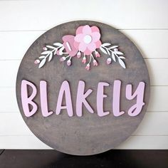24 Round Whimsical Floral Name Wood Sign Wood cut out image 9 names Round Whimsical Floral Name Wood Sign Cute Baby Names, Unique Baby Names, Baby Girl Names, Pretty Names, Baby Girls, Baby Name Signs, Family Name Signs, Nursery Name, Nursery Signs