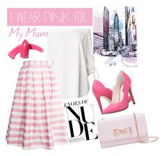 """""""I wear Pink"""" by nia-georgieva ❤ liked on Polyvore featuring TIBI, re:named, Ted Baker, Michael Antonio, Elizabeth Arden and IWearPinkFor"""