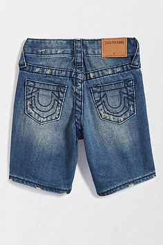31478add RICKY CUT OFF SHORT - True Religion Blue Shorts, Jean Shorts, Cut Off,