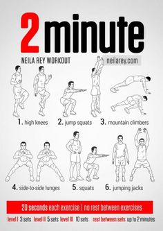 2 Minute Work-out [in seconds]