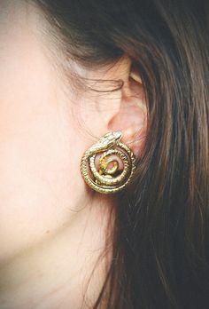 Vintage Snake Earrings