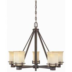 Hampton Bay - 5-Light Oil Brushed Bronze Chandelier - HB3448-287 - Home Depot Canada living room $179.00