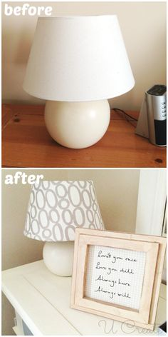 I used the same fabric for the lamps!! #HGTVHomeMagic