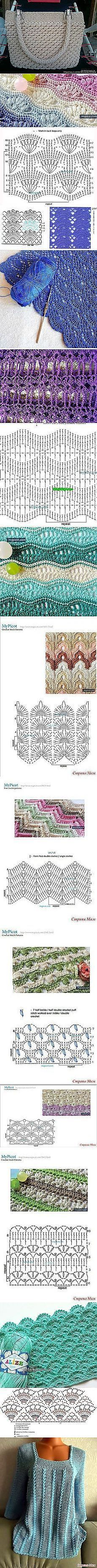 Discover thousands of images about Buscar Postile: patrones de ganchillo Crotchet Patterns, Crochet Motifs, Crochet Tote, Crochet Diagram, Crochet Stitches Patterns, Crochet Handbags, Crochet Purses, Crochet Chart, Crochet Doilies