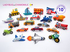 Vehicles felt magnets for kids. Technics and machinery toys with magnets inside. Colorful interesting educational and unique vehicles from felt fabric. Fabric Toys, Felt Fabric, Hanging Ornaments, Felt Ornaments, Christmas Ornaments, Handmade Felt, Felt Toys, Felt Crafts, Cute Gifts