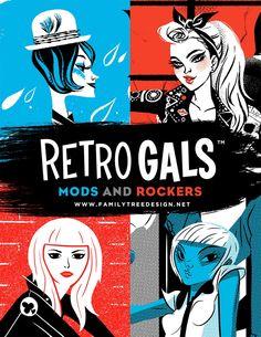 Retro Gals Mods And Rockers