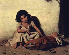 August von Pettenkofen, Zigeunerkinder