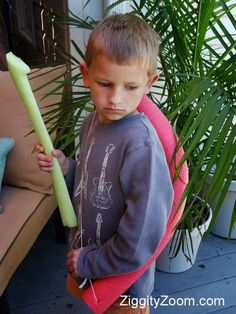 Pool Noodle Bow and Arrow. These have to come to camp!