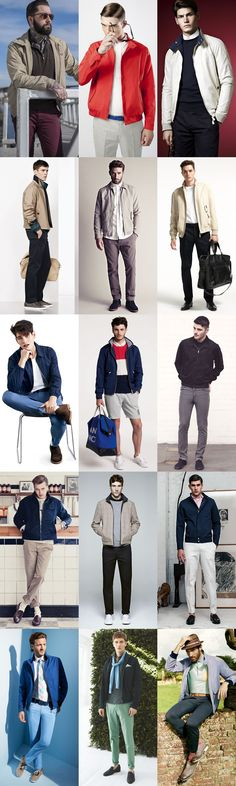 Spring/Summer Outerwear: The Harrington Jacket, Modern Lookbook Inspiration
