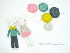 Crochet, lapin Joséphine. Tendre Crochet.