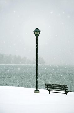 Marlene Ford - snow along the shores of the St. Lawrence River in Ontario, Canada