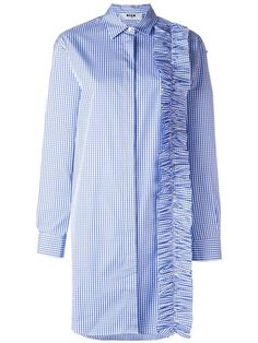 MSGM ruffle detail shirt dress