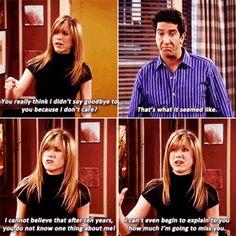 Rachel and Ross #Friends #TV show #Gif
