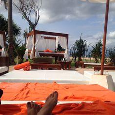 Relax and enjoy the beach at Nikki Beach Club Bali Indonesia
