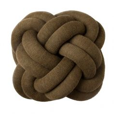 Design House Stockholm's Knot cushion, brown