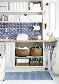 Browse laundry room ideas and decor inspiration. Discover designs for custom laundry rooms and closets, including utility room organization and storage solutions. Mudroom Laundry Room, Laundry Storage, Laundry Room Organization, Laundry Room Design, Laundry In Bathroom, Storage Room, Storage Ideas, Organization Ideas, Storage Solutions