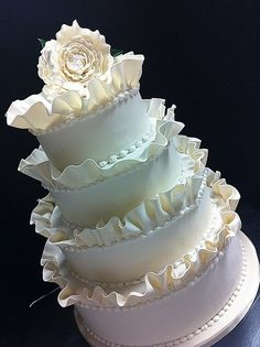 Ruffles!  Cake by kickasscakes