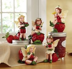 strawberry fairies | Sweet Strawberry Fairy Collectible Sitters
