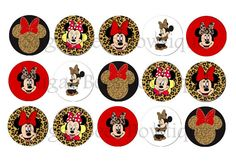 Minnie Mouse Bottle Cap Images by SugarBeesBowtique on Etsy, $1.00