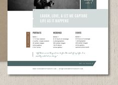 Price List Templates Photography Pricing List Template Elegant Price List Design Wedding .