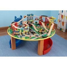 Wooden 50-Piece Train Set with Small Table Only At Walmart | Just ...