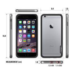 Amazon.com: iPhone 6 Plus Case, Spigen® [ALUMINUM BUMPER] iPhone 6 Plus (5.5) Case Bumper **NEW** [Neo Hybrid EX Metal] [Space Gray] Premium Bumper Case - NO Sagging TPU and Hard Aluminum Frames Slim Dual Layer Protective Bumper Case for iPhone 6 Plus (5.5) (2014) - Space Gray (SGP11195): Cell Phones & Accessories
