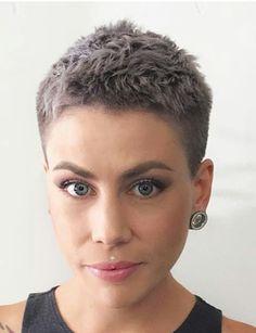 Short Grey Hair, Short Hair With Layers, Short Hair Cuts For Women, Long Hair, Haircut For Thick Hair, Cute Hairstyles For Short Hair, Haircut Short, Hairstyles Haircuts, Shot Hair Styles