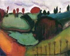 """Landscape, Study for """"Paradise"""", Marcel Duchamp, 1911"""