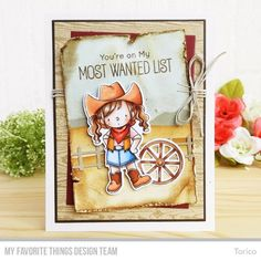 Stamps: BB Saddle Up & Celebrate, Wood Plank Background Die-namics: BB Saddle Up & Celebrate, Farm Fence, A2 Rectangle STAX Set 1, A2 Rectangle STAX Set 2 Stencil: Drifts & Hills Torico #mftstamps
