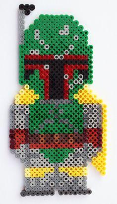 Star Wars Boba Fett perler beads by LunasRealm
