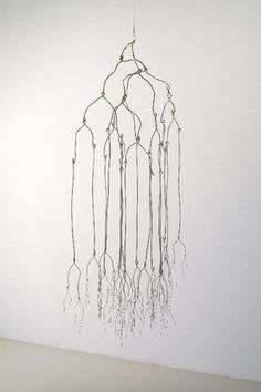 The Long Pause, 2008 - Beth Campbell  Steel wire hanging sculpture