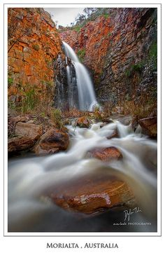 First Falls, Morialta Waterfalls in Morialta Conservation Park, Adelaide_ South Australia Australia Living, Australia Travel, Visit Australia, Photo Pose Longue, Beautiful Places To Visit, Places To See, Landscape Photos, Landscape Photography, Living In Adelaide