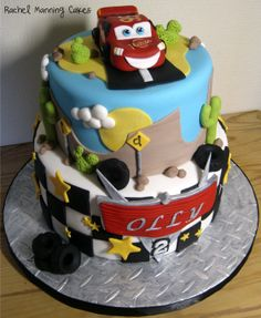 Disney's Cars Cake Lightning McQueen - by RachelManningCakes @ CakesDecor.com - cake decorating website