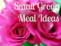 Our church small group meets once a week and we eat dinner together before Bible study.  Each week we sign up to bring something for the next weeks meal, such as drinks, cups, side dish, des…