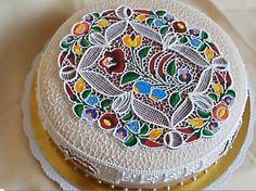 Hungarian Cake, Happy Birthday Cake Images, Royal Icing, Beautiful Cakes, Cake Designs, Hungary, Folk Art, Fondant, Cake Decorating