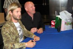 Keith and George tour 2013! (I am so sorry but WHY are you wearing Camo print Keith Harkin?! Oh I hate Camo print unless we were going hunting together lol!)