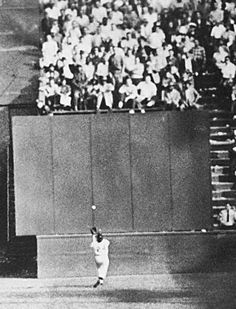 'Willie Mays World Series MVP': MLB renames award, honors Say Hey Kid  -  September 29, 2017:  FILE- In this Sept. 29, 1954, file photo, New York Giants center fielder Willie Mays, running at top speed with his back to the plate, gets under a 450-foot blast off the bat of Cleveland Indians first baseman Vic Wertz to pull the ball down in front of the bleachers wall in the eighth inning of Game 1 of the World Series at the Polo Grounds in New York. Baseball...  MORE...