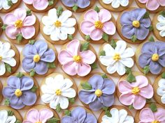 Lovely flower cookies for a garden party.